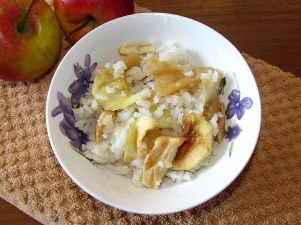 рецепт рис с яблоками фото