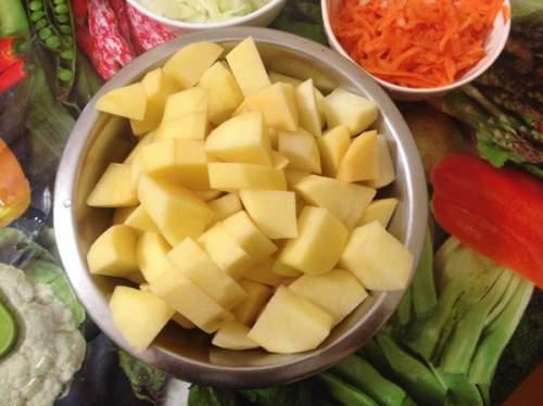 нарезанный картофель фото