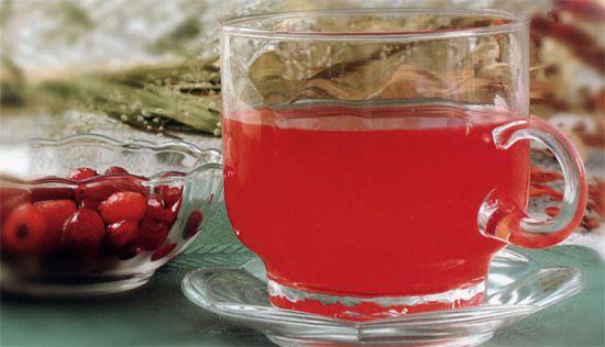 чай брусника фото