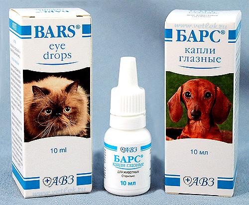 Популярные глазные капля для кошек